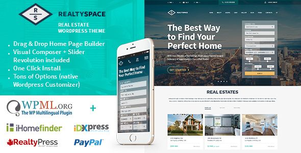 Realtyspace v1.4.16 - Real Estate WordPress Theme