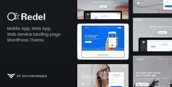 Redel v1.5 - Responsive App Landing WordPress Theme