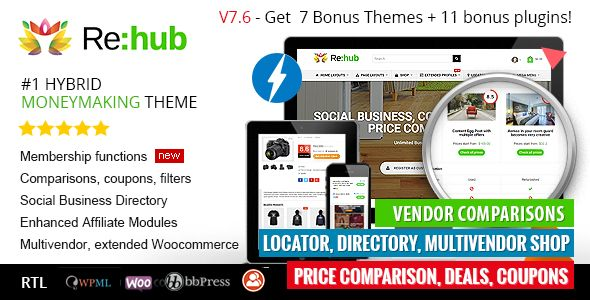 REHub v7.6.7 - Price Comparison, Business Community