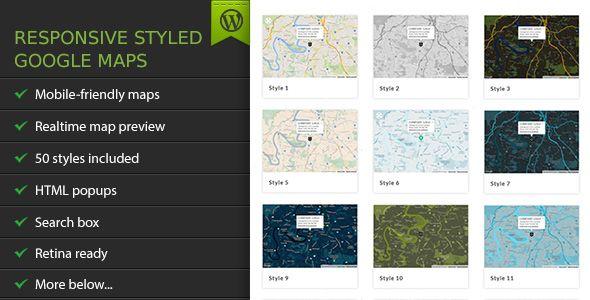 Responsive Styled Google Maps v4.6