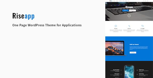 Riseapp v1.0.1 - One Page Theme For Applications