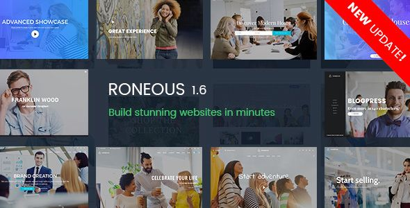 Roneous v1.6.1 - Creative Multi-Purpose WordPress Theme