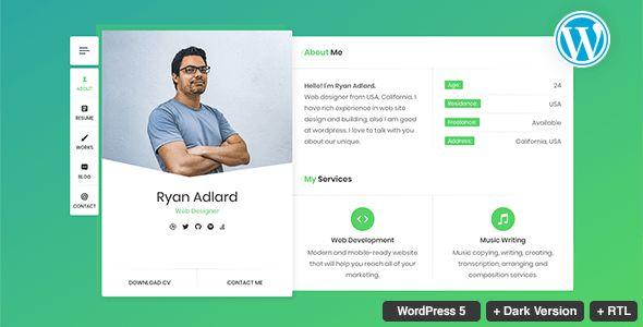 RyanCV v1.5.0 - Resume/CV/vCard Theme