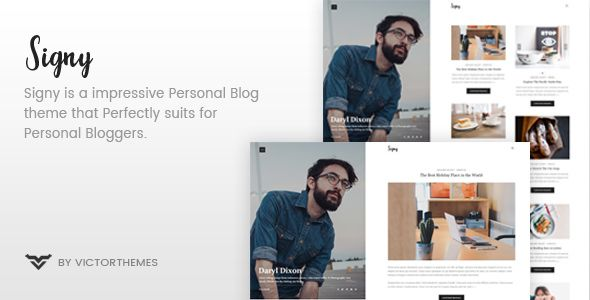 Signy v1.3.2 - A Personal Blog WordPress Theme