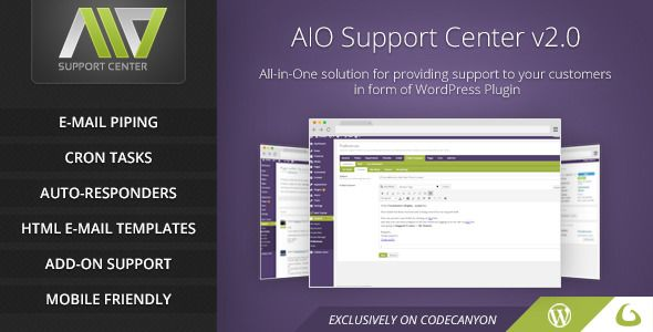 AIO Support Center v2.21 - WordPress Ticketing System