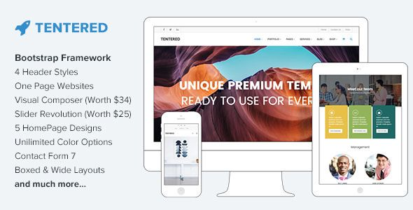 Tentered v1.4.1 - Multi Purpose WordPress Theme