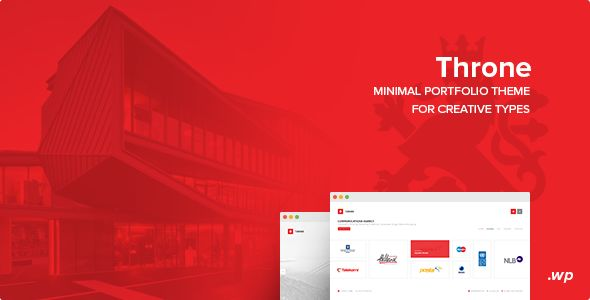 Throne v2.0 - Minimal WordPress Theme