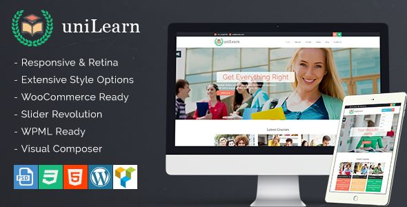 UniLearn v1.2.0 - Education And Courses WordPress Theme