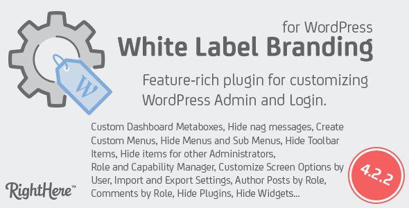 White Label Branding For WordPress v4.2.2