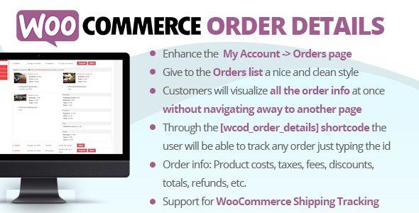 WooCommerce Order Details v1.6