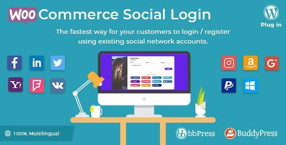 WooCommerce Social Login v1.9.1 - WordPress Plugin