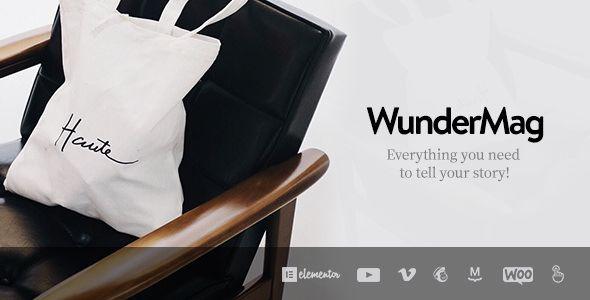 WunderMag v2.1.6 - A WordPress Blog / Magazine Theme