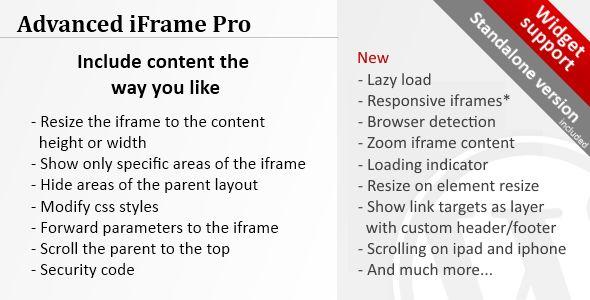 Advanced iFrame Pro v7.6