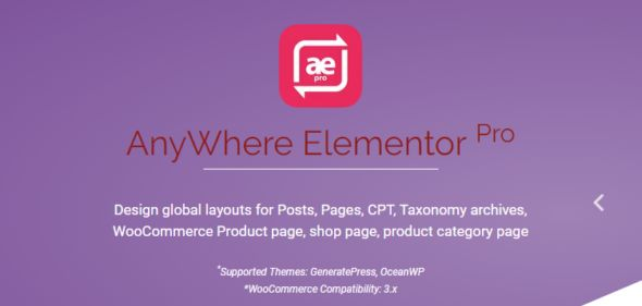 AnyWhere Elementor Pro v2.11.2 - Global Post Layouts