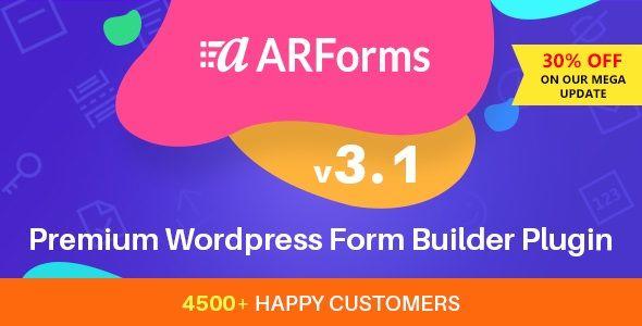 ARForms v3.1 - WordPress Form Builder Plugin