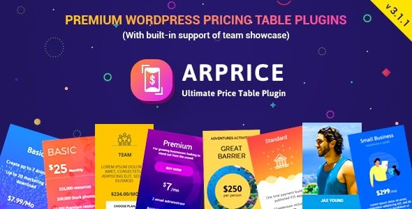 ARPrice v3.1.1 - Ultimate Compare Pricing Table Plugin