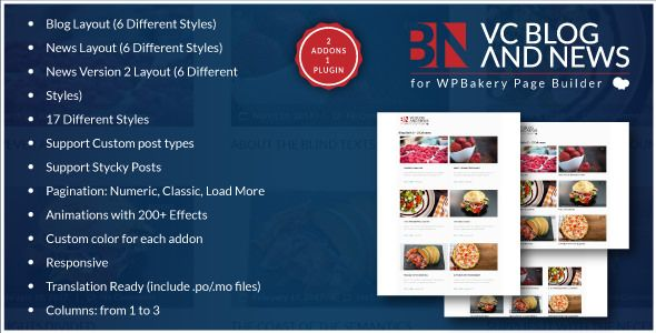 Blog And News Addons For WPBakery Page Builder