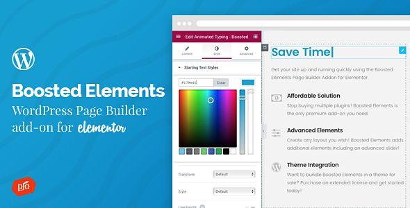 Boosted Elements v2.0 - Builder Add-On For Elementor