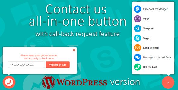 Contact us v1.0.3 - All-In-One Button With Callback Request