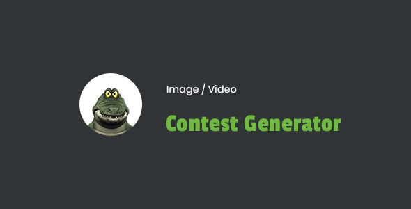 Image / Video Contest Generator WordPress Plugin v1.0
