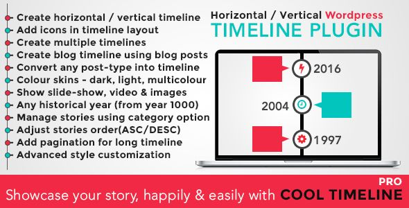 Cool Timeline Pro v2.9.2 - WordPress Timeline Plugin