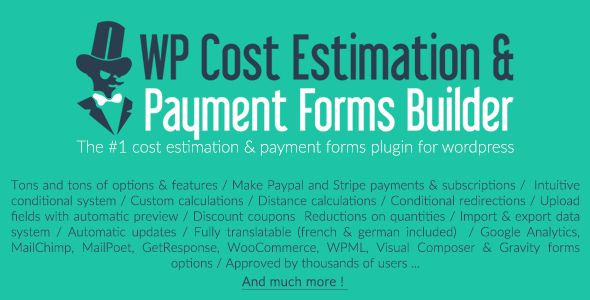 WP Cost Estimation & Payment Forms Builder v9.663