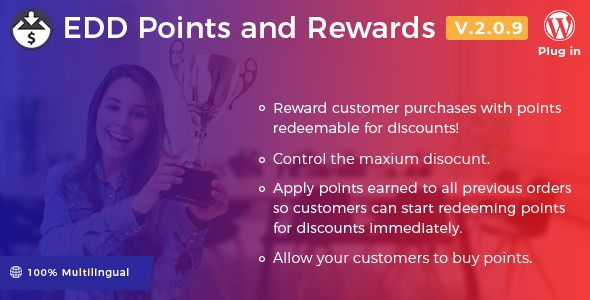 Easy Digital Downloads - Points And Rewards v2.0.9