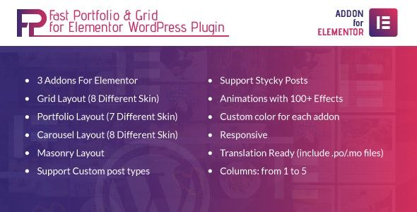 Fast Portfolio & Grid For Elementor WordPress Plugin v1.0