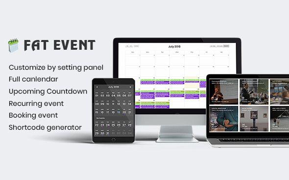 FAT Event v1.2.3 - WordPress Event And Calendar Booking