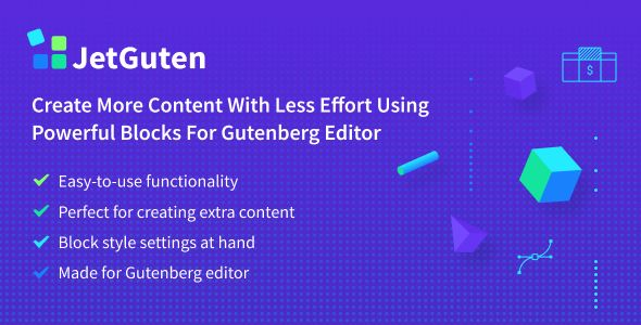 JetGuten v1.0.0 - Blocks Set Addon For Gutenberg Editor