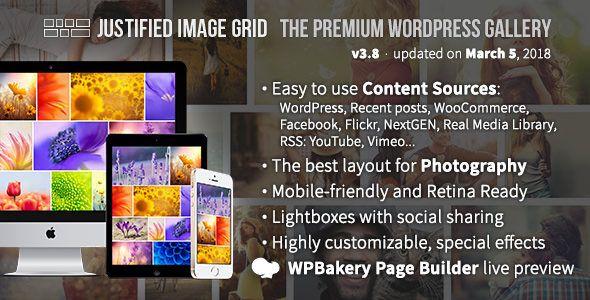 Justified Image Grid v3.8 - Premium WordPress Gallery