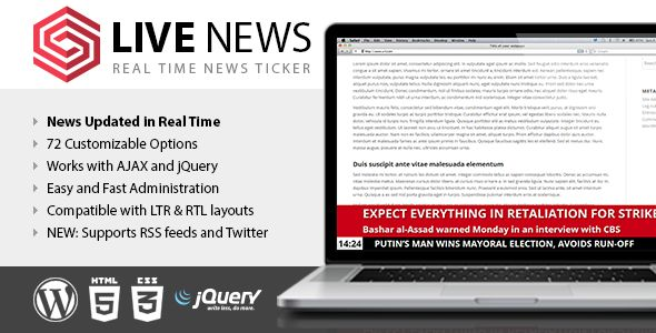 Live News v2.08 - Real Time News Ticker