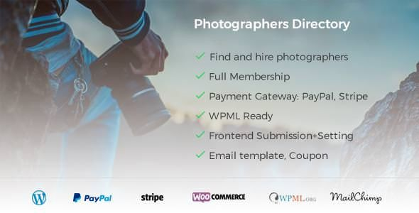 Photographer Directory v1.0.4 - WordPress Plugin