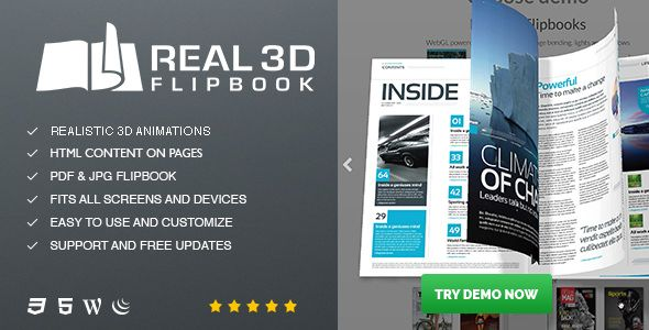 Real3D FlipBook v3.5.4 - WordPress Plugin