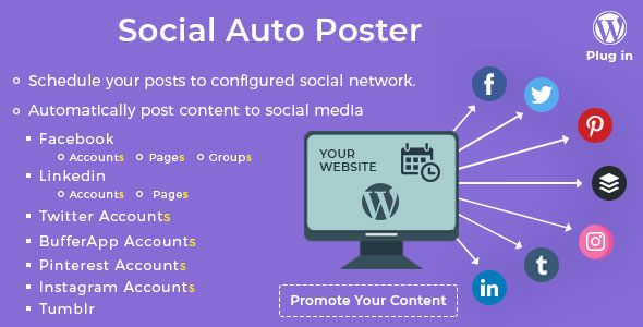 Social Auto Poster v2.6.8 - WordPress Plugin