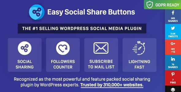 Easy Social Share Buttons For WordPress v5.6