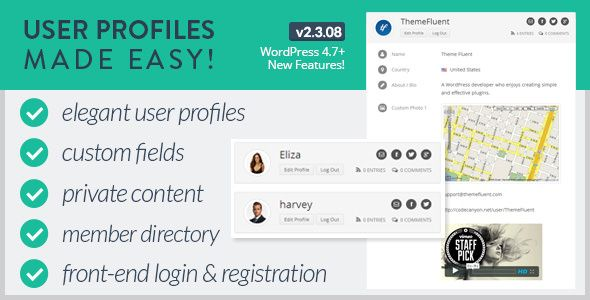 User Profiles Made Easy v2.3.08 - WordPress Plugin