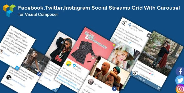 Visual Composer - Social Streams With Carousel v1.10