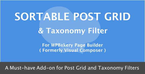 Visual Composer - Sortable Grid & Taxonomy filter v3.1.0