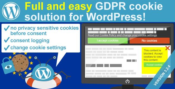 WeePie Cookie Allow v3.2.4 - Easy & Complete Cookie Consent