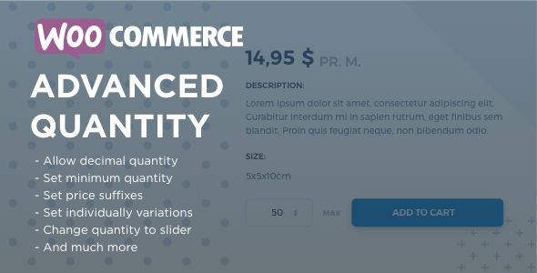 WooCommerce Advanced Quantity v2.2.9.2