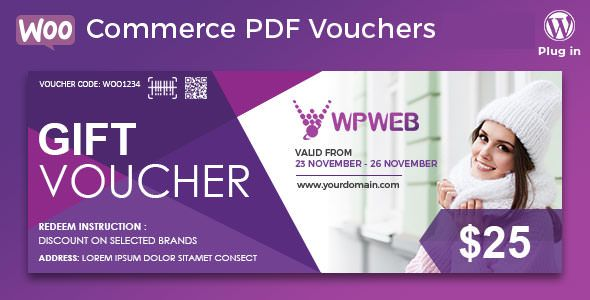 WooCommerce PDF Vouchers v3.6.7 - WordPress Plugin